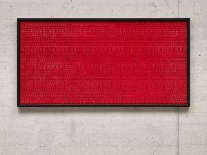 Red (2002) / artificial fingernails / 150 x 75 cm